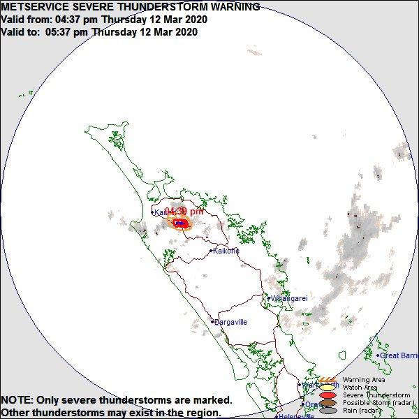 Severe Thunderstorm Warning issued for Northland Radar Area zpr.io/tCAur https://t.co/EyKDWMbyR1