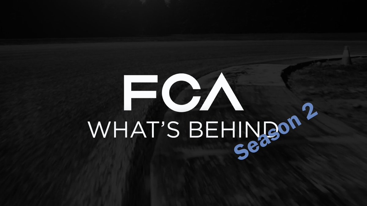 FCA What's Behind: the cameras return to show the behind-the-scenes of FCA's research and development activities. Watch Season 2 trailer here: http://bit.ly/3cPyuzX