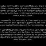 マクラーレンF1、オーストラリアGPを欠場することを発表!