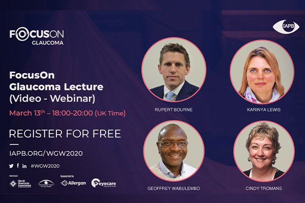 test Twitter Media - Keeping the current advice around public gatherings in mind, the IAPB has decided to make the London Focus On Glaucoma Lecture a Video Webinar. The webinar is free and open to all, register here: https://t.co/KxXLpm4HW3 #glaucomaweek #WGW2020 https://t.co/4gno3LLRov