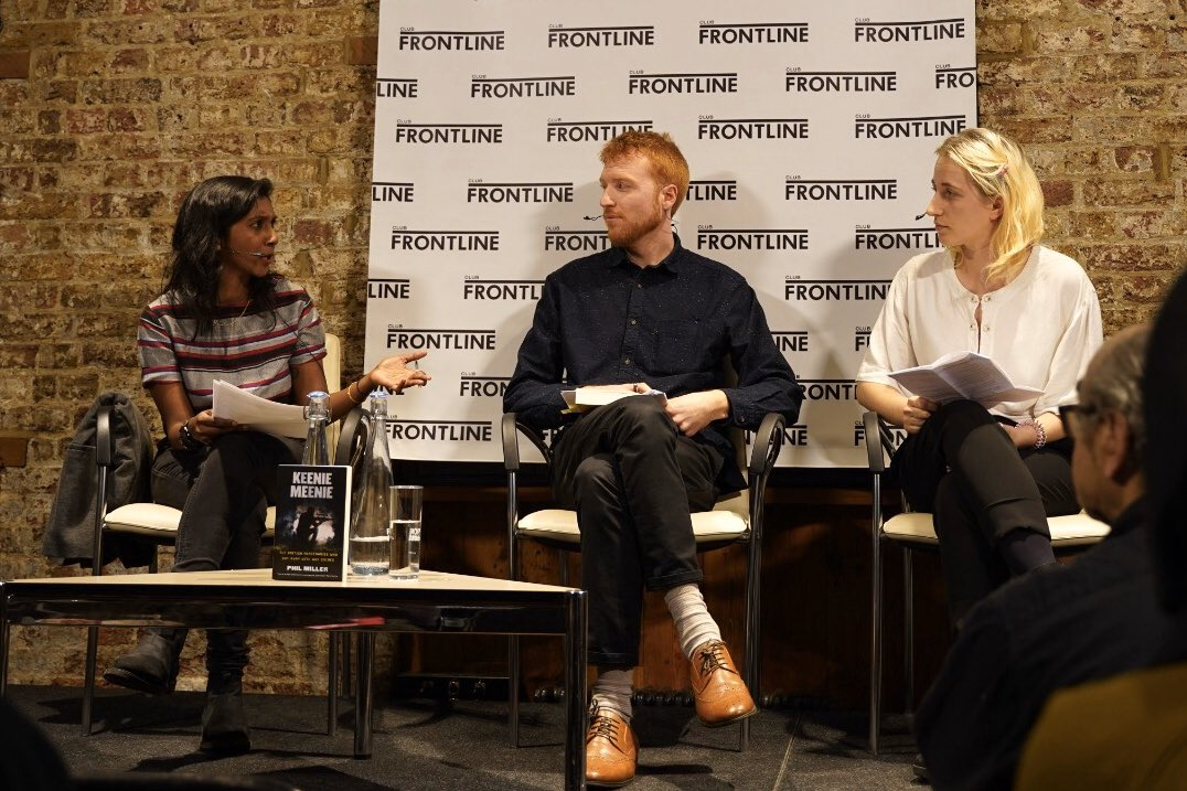 KEENIE MEENIE launch at the @frontlineclub yesterday - thanks everyone who came along and asked questions. Chaired by: @siva_thasan Speakers: @pmillerinfo & @lou_macnamara