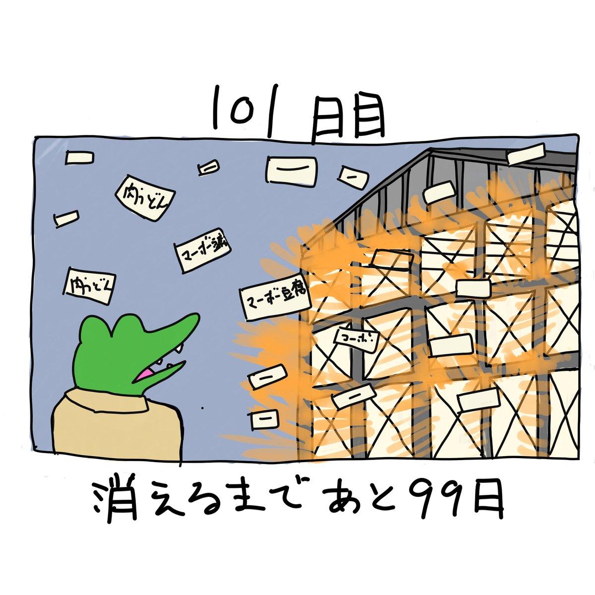 ワニ 101 日 目
