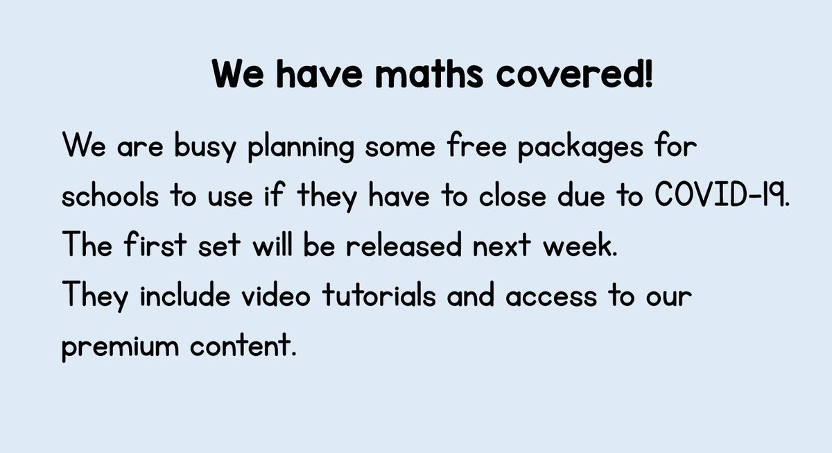 ⭐️ COVID-19 ⭐️ Please share to let as many schools know as possible #MathsEveryoneCanAtHome