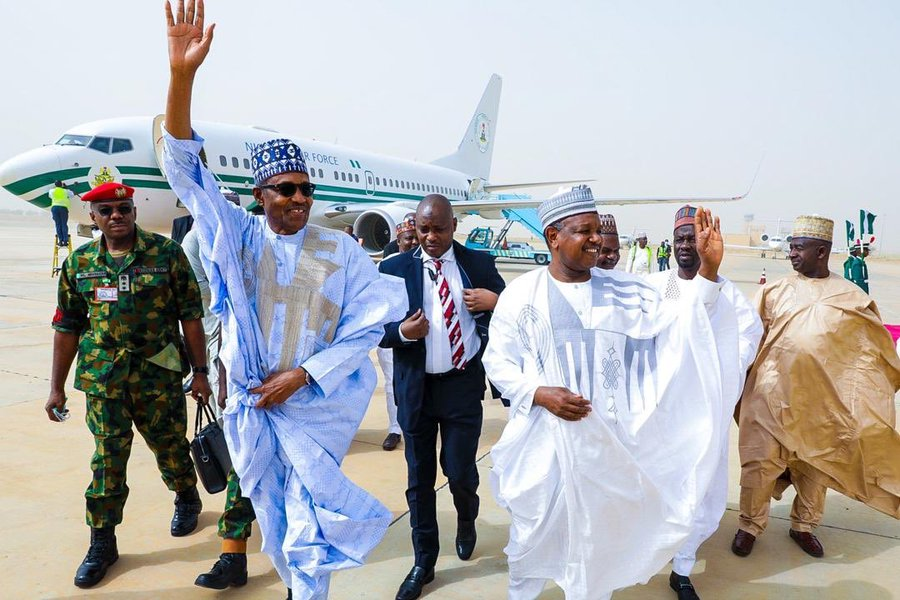President Buhari Arrives Kebbi For 2020 Argungu Festival