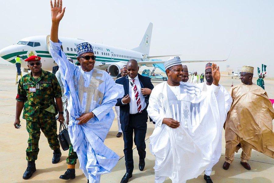 President Buhari Arrives Kebbi For 2020 Argungu Festival