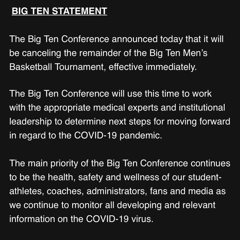 RT OhioStateHoops: Update on todays game and the remainder of the #B1GTourney https://t.co/cGeKafp9s1 https://t.co/fA8bsbSrnN