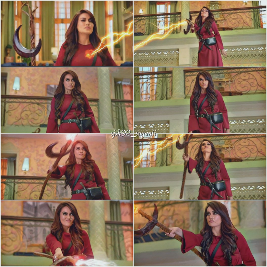 One of the highlights of today's episode.She was just awesome as both characters😍😍. @SurbhiJtweets #SurbhiJyoti #Laila #Chandni #YehhJaduHaiJinnKa