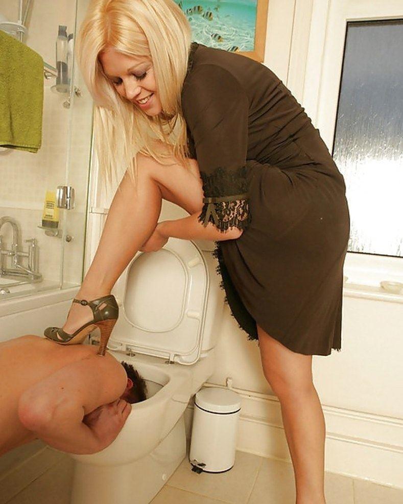 Toilet Femdom Domination