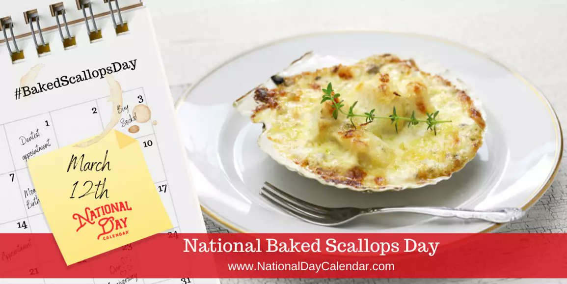 @RobMKendall @chicksonright  It's #NationalBakedScallopsDay! It's also #NationalKidneyDay, but I don't think they meant that in a a disgusting food sort of way... https://t.co/gDTpwqJQSi