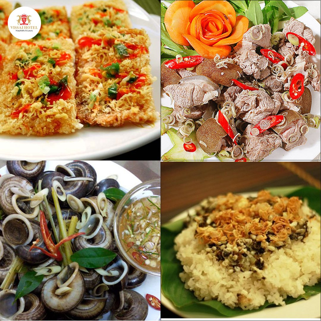 Fascinating specialities must-try in Ninh Binh - Mountain goat meat - Scorched rice - Moutain snail - sticky rice with ant eggs #vissaihotel #ninhbinh #vietnam #checkinninhbinhpic.twitter.com/zEa0jGLGtU