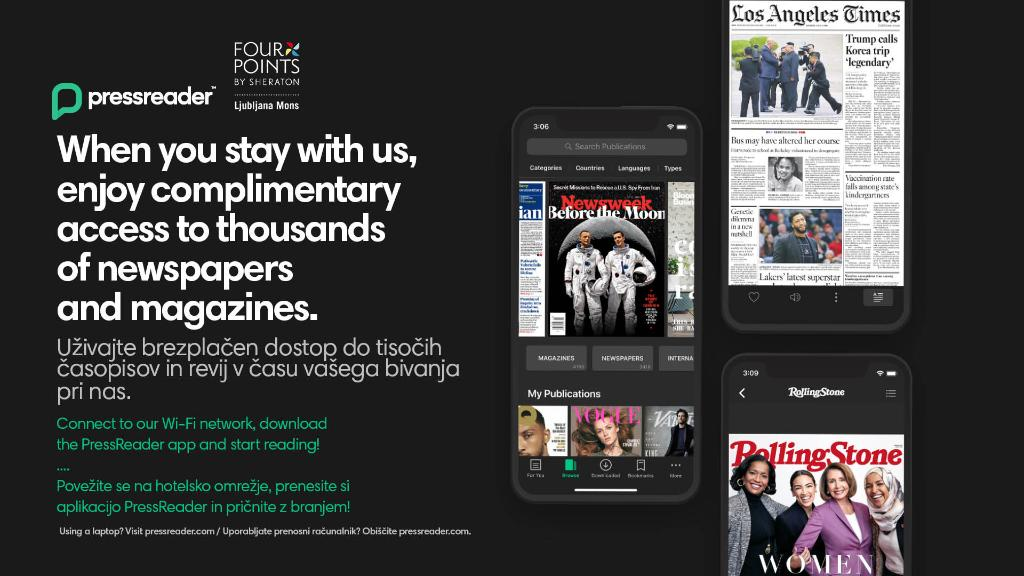 When you stay with us, enjoy complimentary access to thousands of newspapers and magazines. Connect to our Wi-Fi network, download the PressReader app and start reading! #reading #pressreader #news https://t.co/nOHfFNHdRC