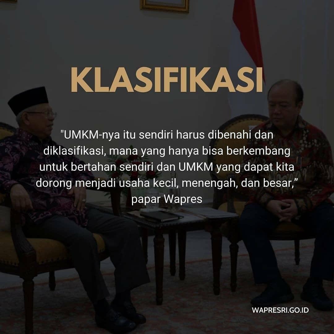 Tiga Sasaran Pemerintah dalam Mengembangkan UMKM: 1. Klasifikasi  #kyaimarufamin  #umkmindonesia  #kabinetindonesiamaju  #koperasisimpanpinjam  #abahbekerja @kyai_marufamin @marufamin.newspic.twitter.com/XWHo6yyscq