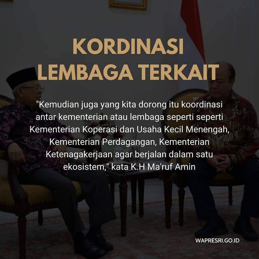 3. Koordinasi Lembaga Terkait.  #kyaimarufamin  #umkmindonesia  #kabinetindonesiamaju  #koperasisimpanpinjam  @kyai_marufamin @marufamin.newspic.twitter.com/8O0XHQysRL