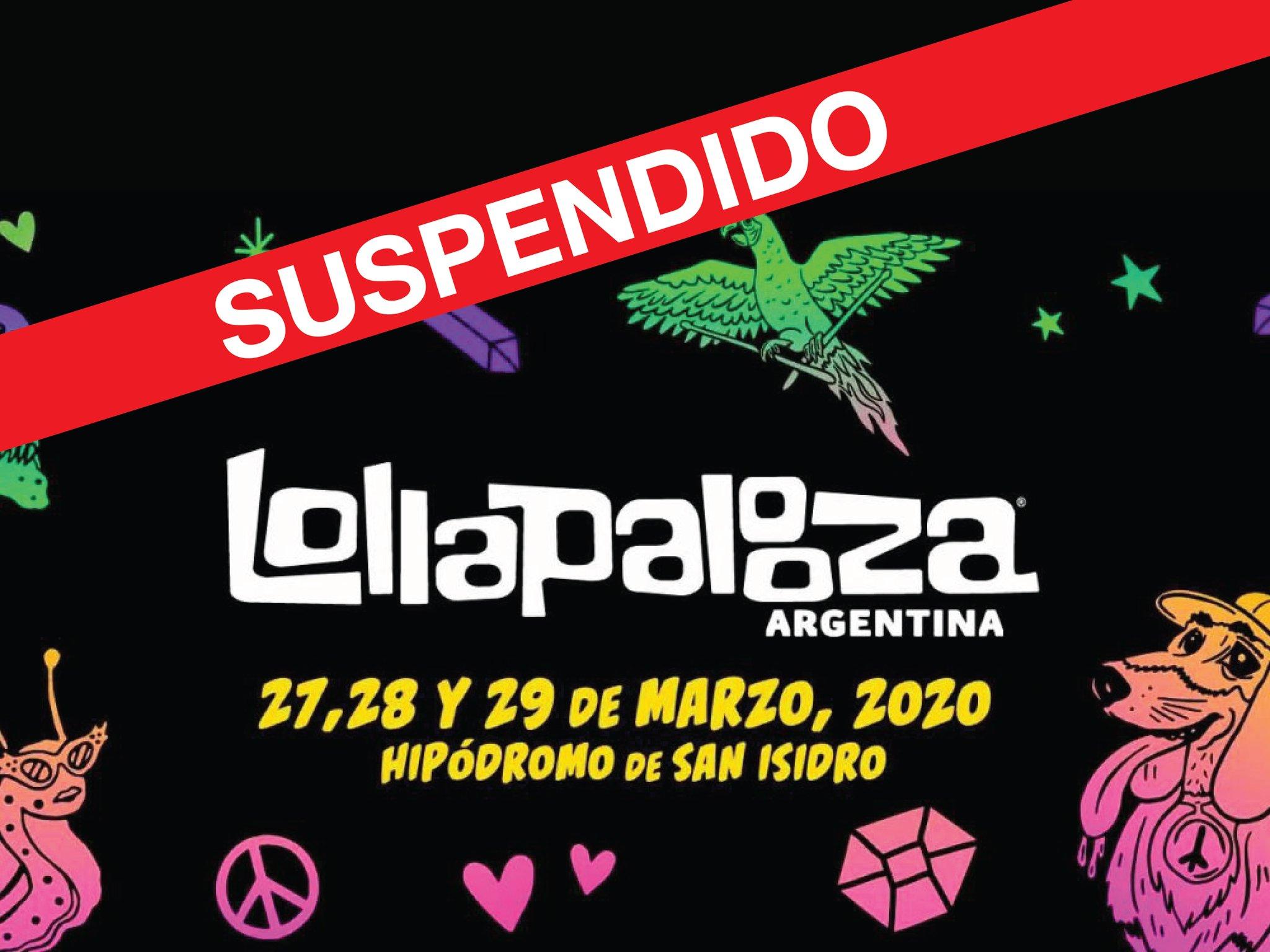 Lollapalooza en Argentina SUSPENDIDO 2020