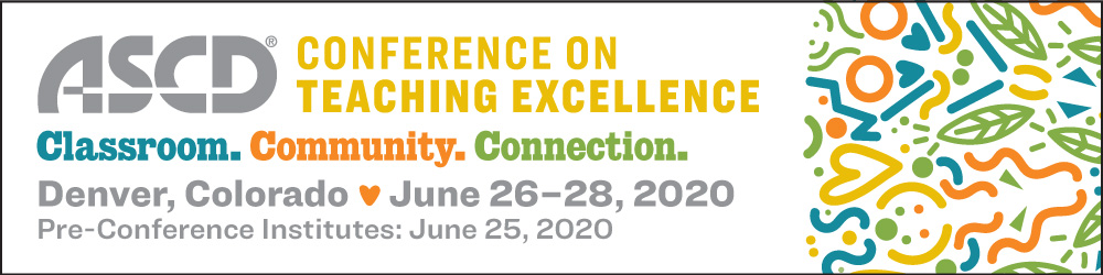 Like many educators, I am fueled by connections even more than content.   Because of this, I hope #Empower20 attendees will consider shifting their registration to #ASCDCTE, #ASCDCEL, or #Empower21. I already have all three events on my calendar and hope to see you there!