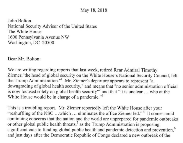 Here's the May 2018 Warren & Murray letter:   Here's the Feb 2020 letter:   For nearly 2 years @ewarren & @PattyMurray have been trying to hold Trump accountable for lax pandemic preparation. @SenateGOP has been running interference.