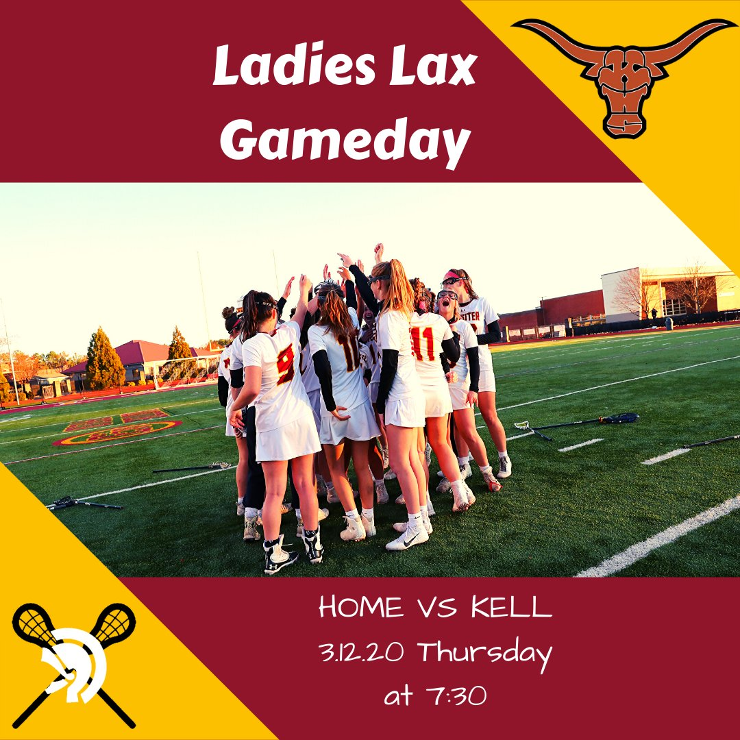GAME DAY! Home Game vs Kell! @lhsladieslax #rivalry #TrojanLAX