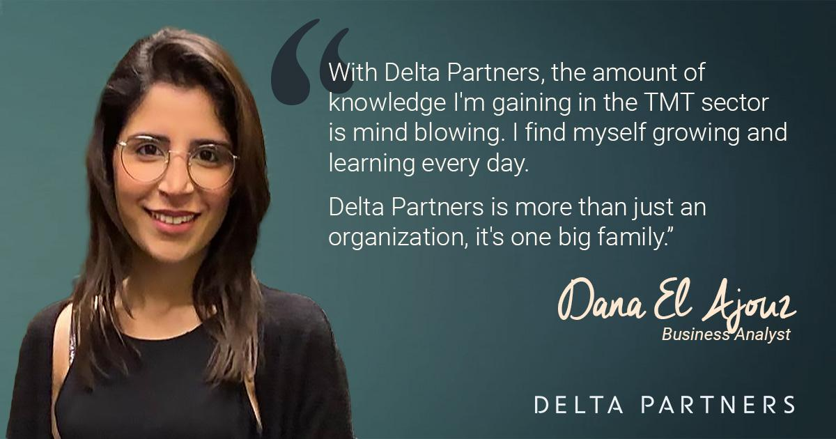 Dana El ajouz shares her insights on what it's been like working at Delta Partners.  Discover her story and others on #JoiningDelta2020