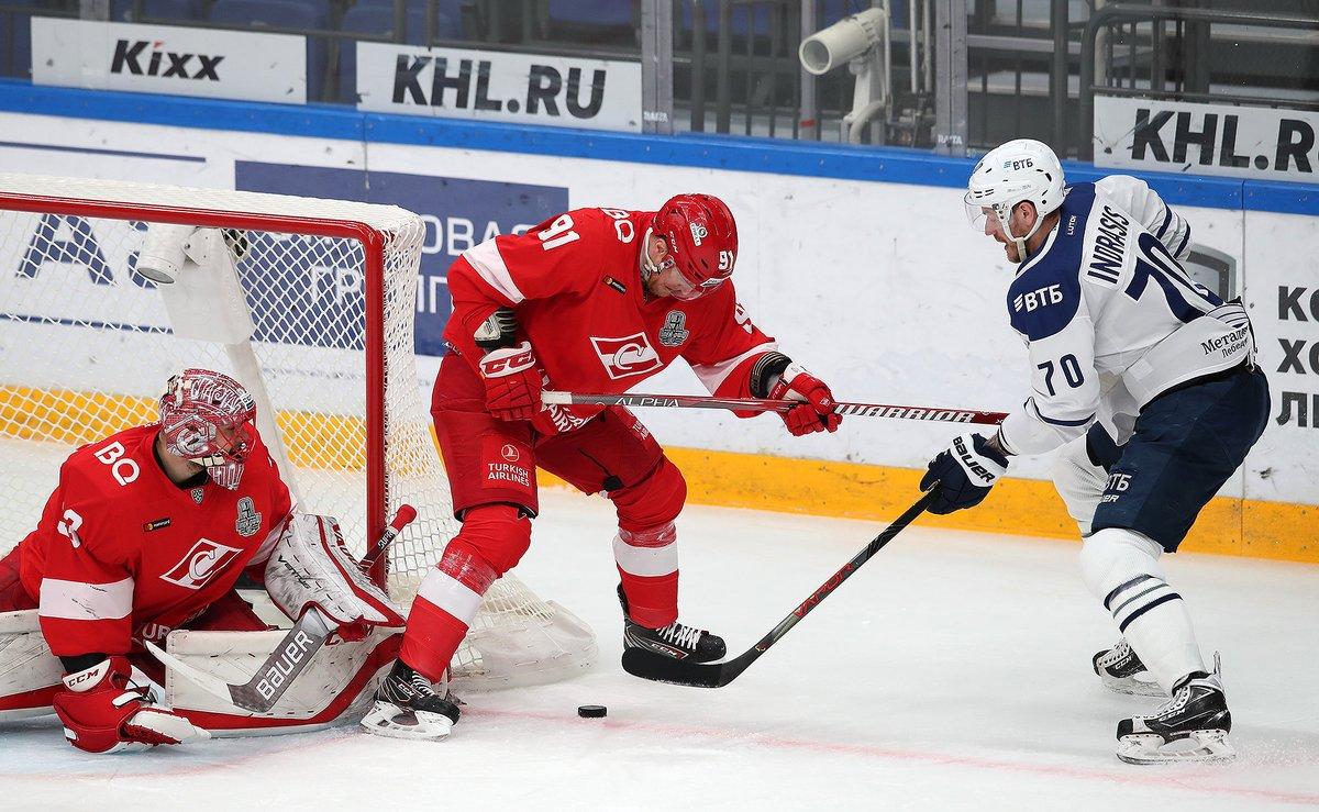 «Спартак» в овертайме уступил «Динамо» в шестом матче и выбыл из плей-офф (Видео)