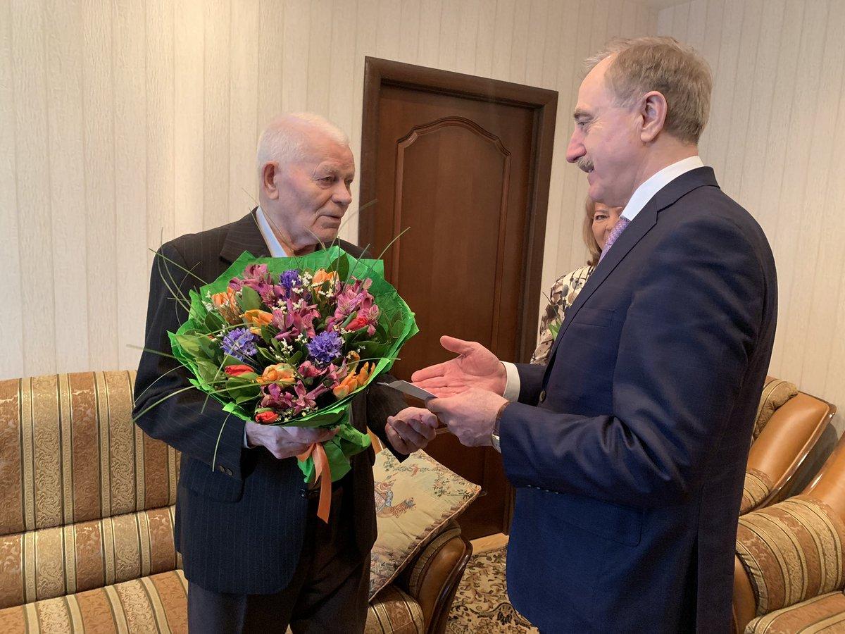 Поздравление президента с 90-летием ветерана войны