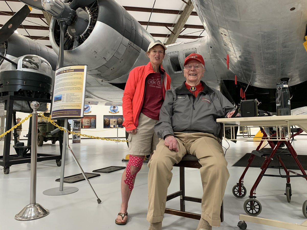 An honor and thrill to meet WWII Air Force B-17 pilot Richard Bushong at Pima Air & Space Museum. He recounted his experience of landing his crippled bomber plane with 1 good engine and 0 brakes. #Awesome #AmericanHero