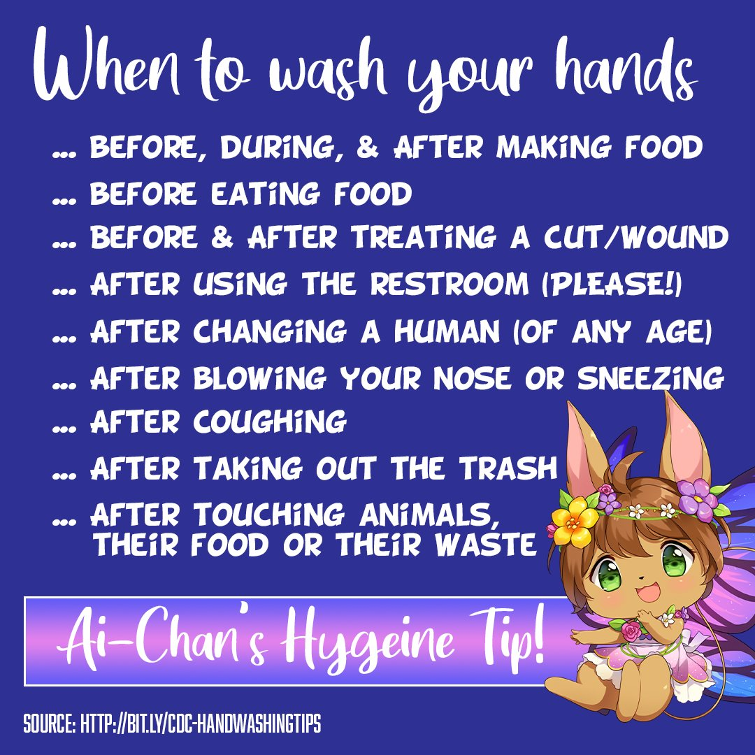 You know you need to wash your hands, but do you know how often? Kawaii Kon is here to help! https://t.co/3ShmVjCSWr
