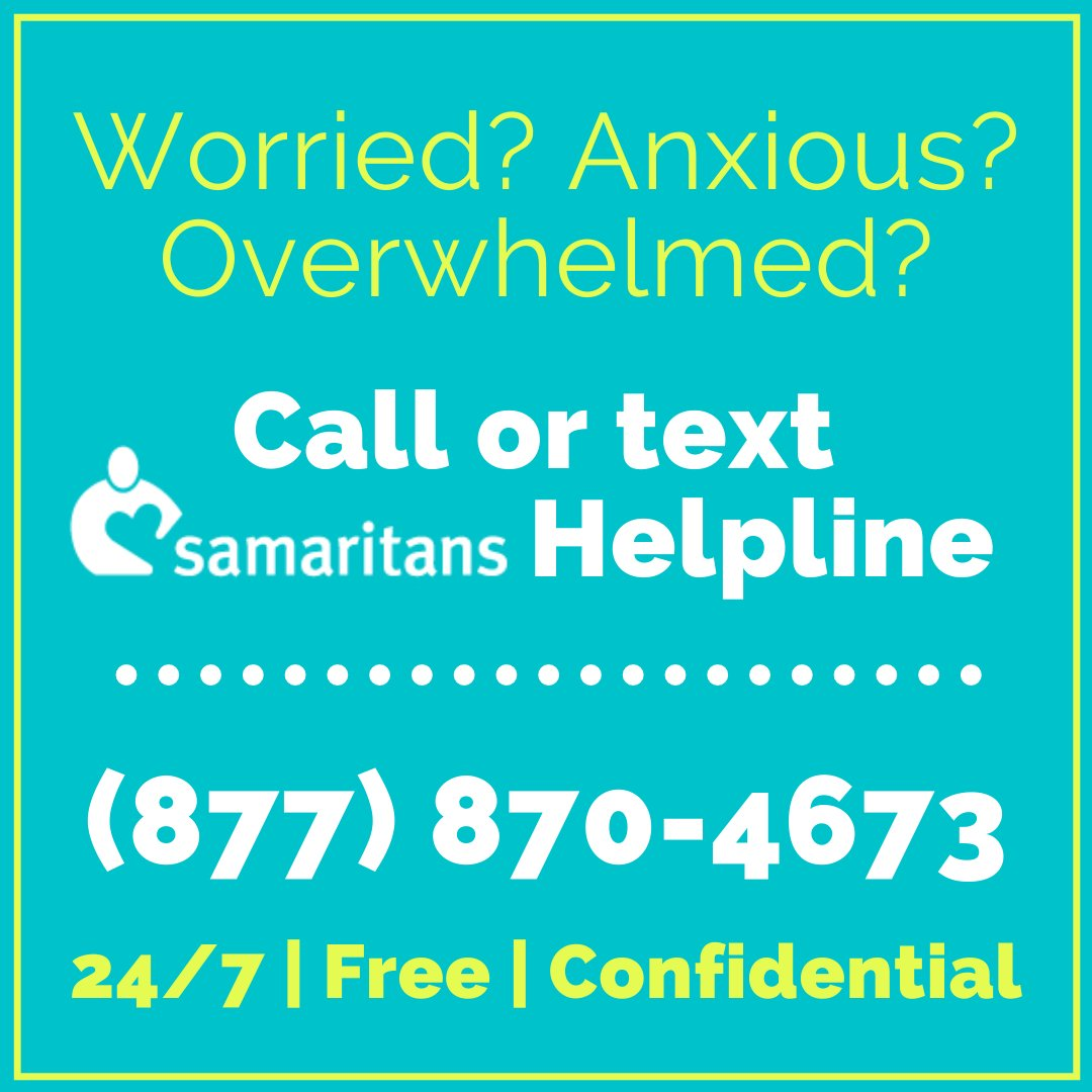 The news of COVID-19 is overwhelming. Many folks feel desperate. In these trying times, please remember that people & orgs. are still here to help. Samaritans, Inc., is an org. doing incredible work to ensure that mental wellness is prioritized as well as physical health.