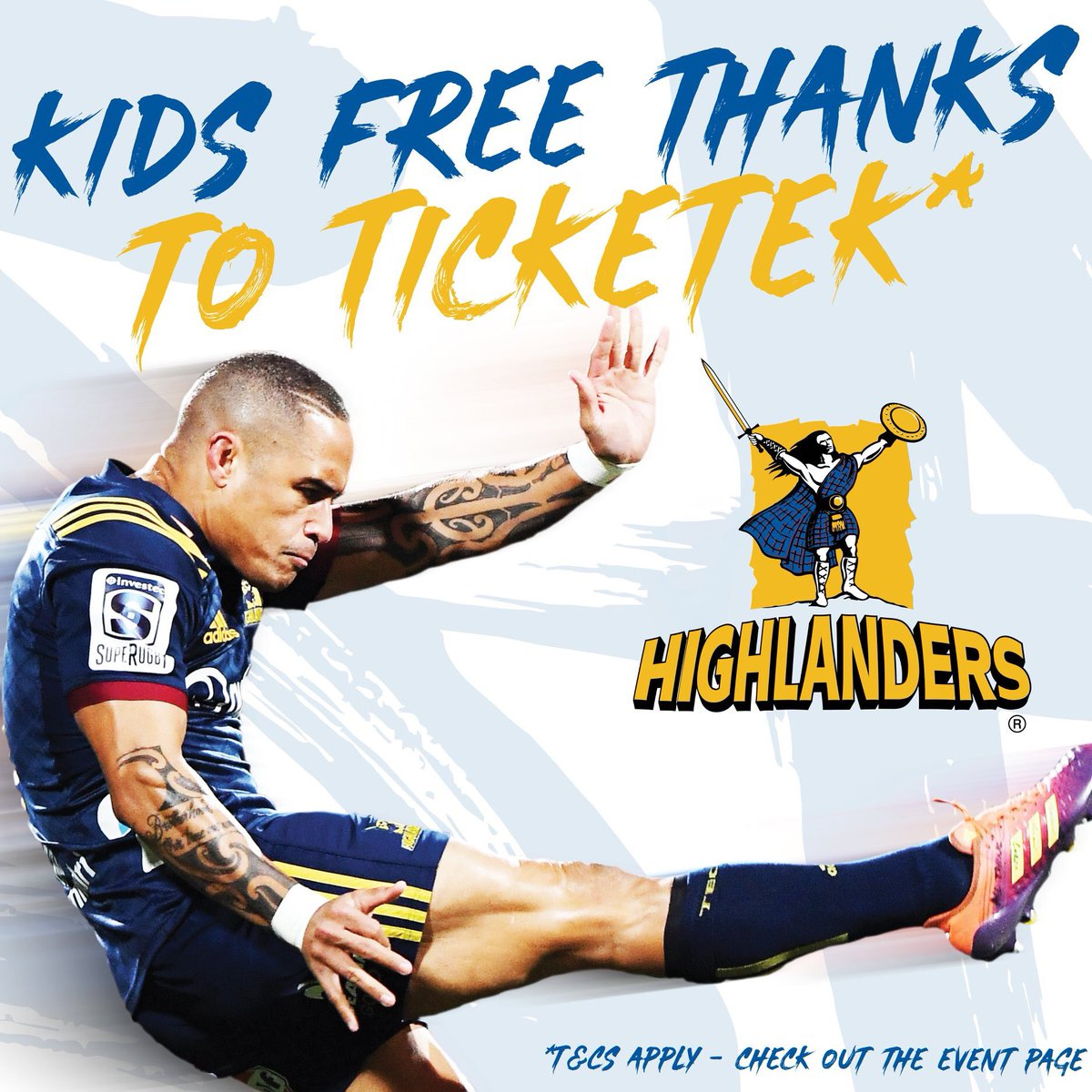 We're on the move to @Ticketek_NZ and to celebrate kids can come to the Highlanders v Lions game for FREE! T&Cs apply - full info: thehighlanders.co.nz/media-centre/n…