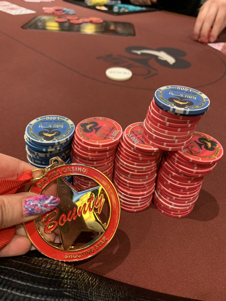 ITM in the @Bay101Casino Shooting Star🤩 37/290. 370k @ 5k bb. 300k to first. Hanging onto my bounty til the end🔥🍀