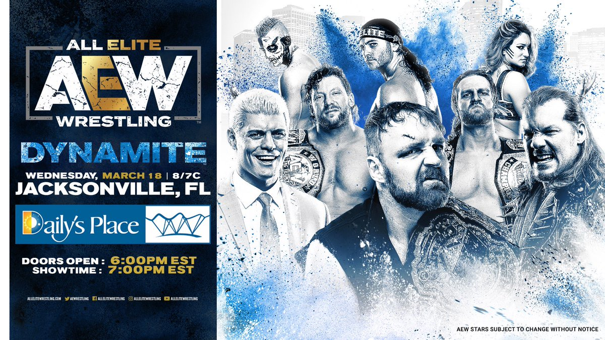 AEW Dynamite To Move Forward At Daily's Place In Jacksonville Despite Coronavirus Ruling From Mayor
