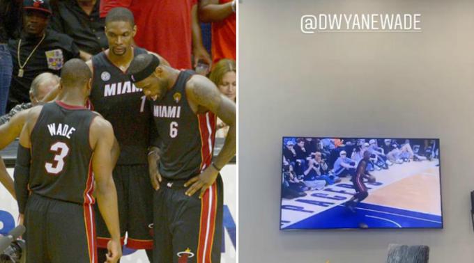 NBA停擺球員都在幹嘛?詹姆斯在家看熱火時期影片標出閃電俠:我們壞透了!(影)