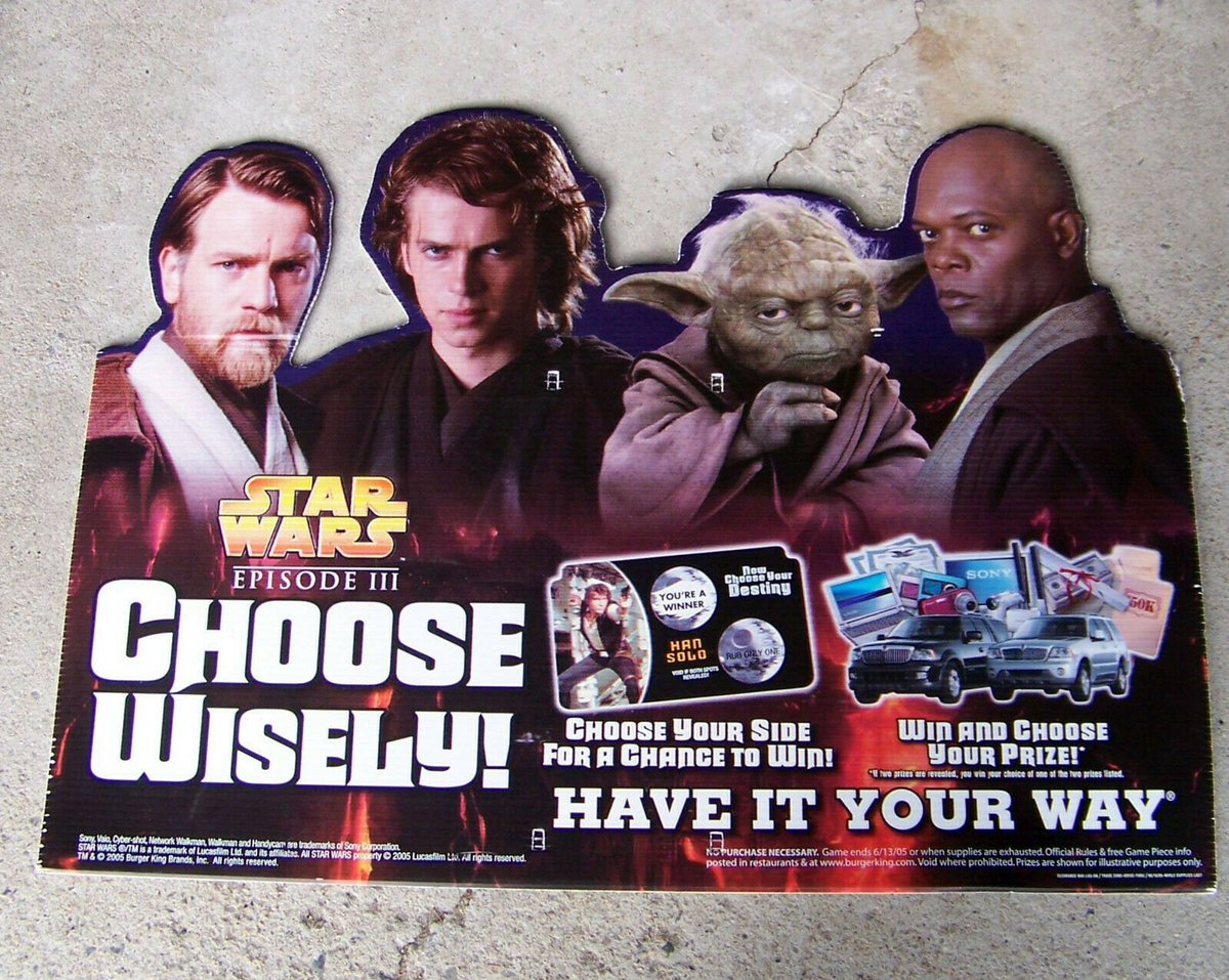 Movie Promotional Merch Unlimited On Twitter Star Wars Revenge Of The Sith 2005