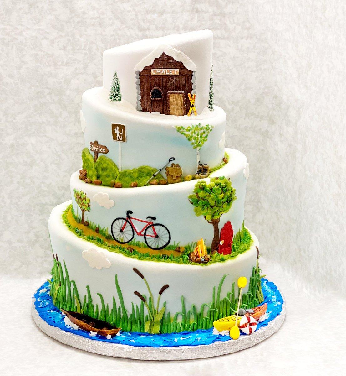 The outdoor lovers' dream cake!  • • • • • #queenofcakes #queenofcakesdidmycookies #queenofcakesdidmycake #cakelove #buttercreamart #mycakeobsession #birthdaycakes #weddingcakes #babyshowercakes #minnesotabride #minnesotaweddings #outdoorcakes #topsyturvycakes #campingpic.twitter.com/Q5CYQq0nun