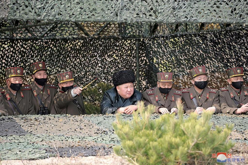 North Korea's Kim guides artillery drills despite coronavirus concerns