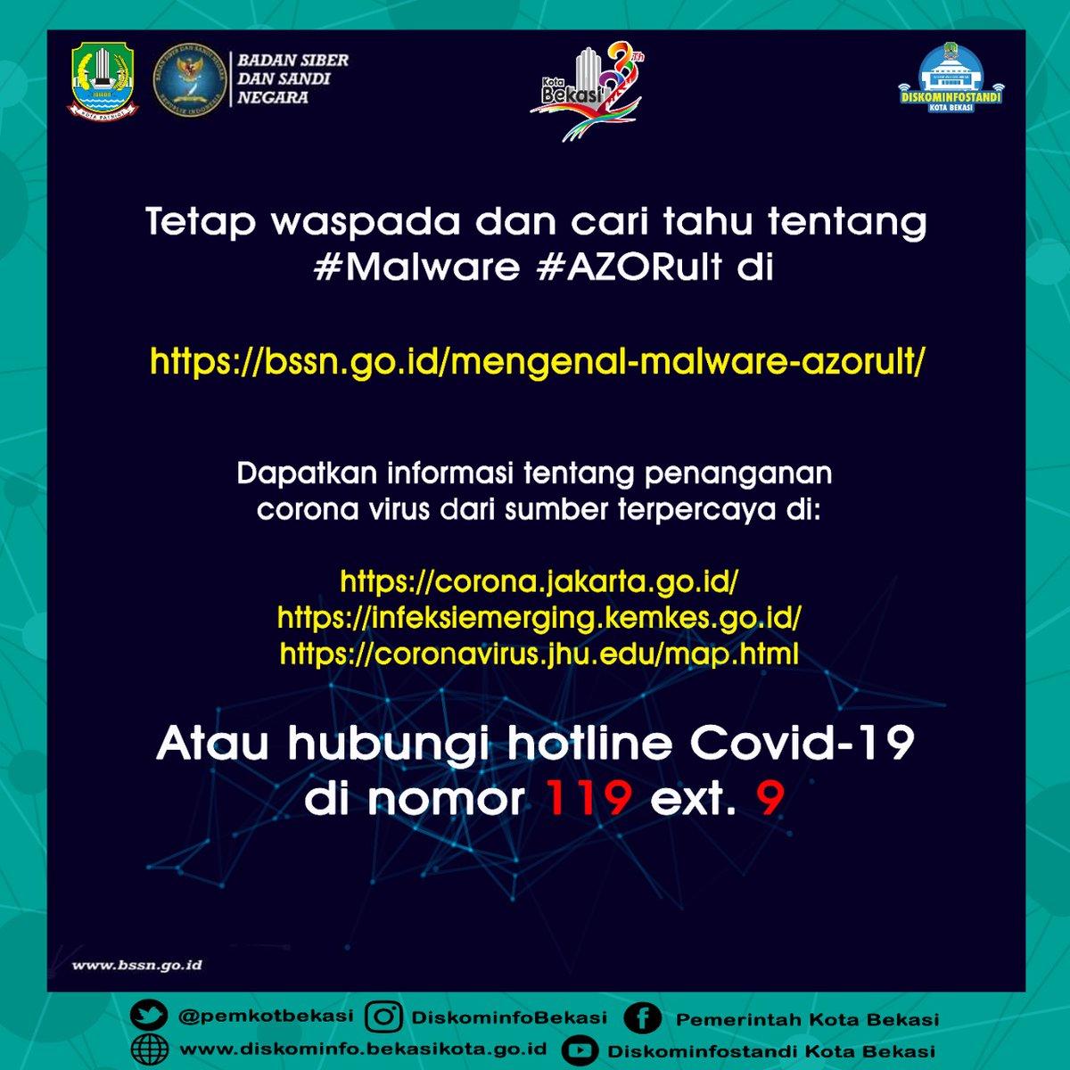 Kota Bekasi 75tahunjabar On Twitter Selamat Siang Waspada Terhadap Peta Palsu Penyebaran Corona Virus Dapatkan Informasi Ttg Penanganan Corona Virus Dari Sumber Terpercaya Dgn Mengunduh Info Dibawah Bssn Ri Kemenkesri Dinkes Kotabks