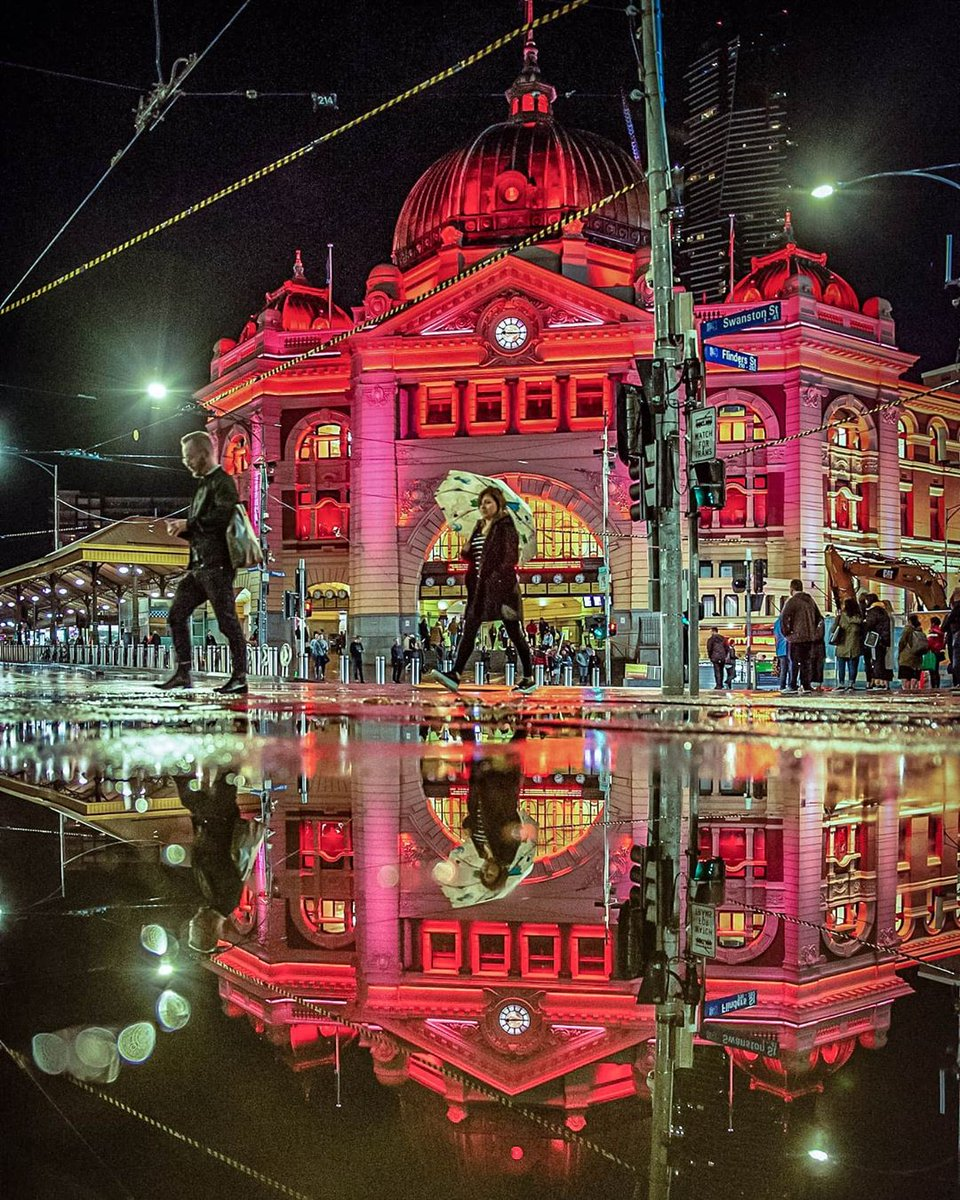 test Twitter Media - Rainy reflections of Flinders Street Station. Melbourne shines brightest with a little wet weather (via IG/adzventurers). https://t.co/eZtzYWyTYr