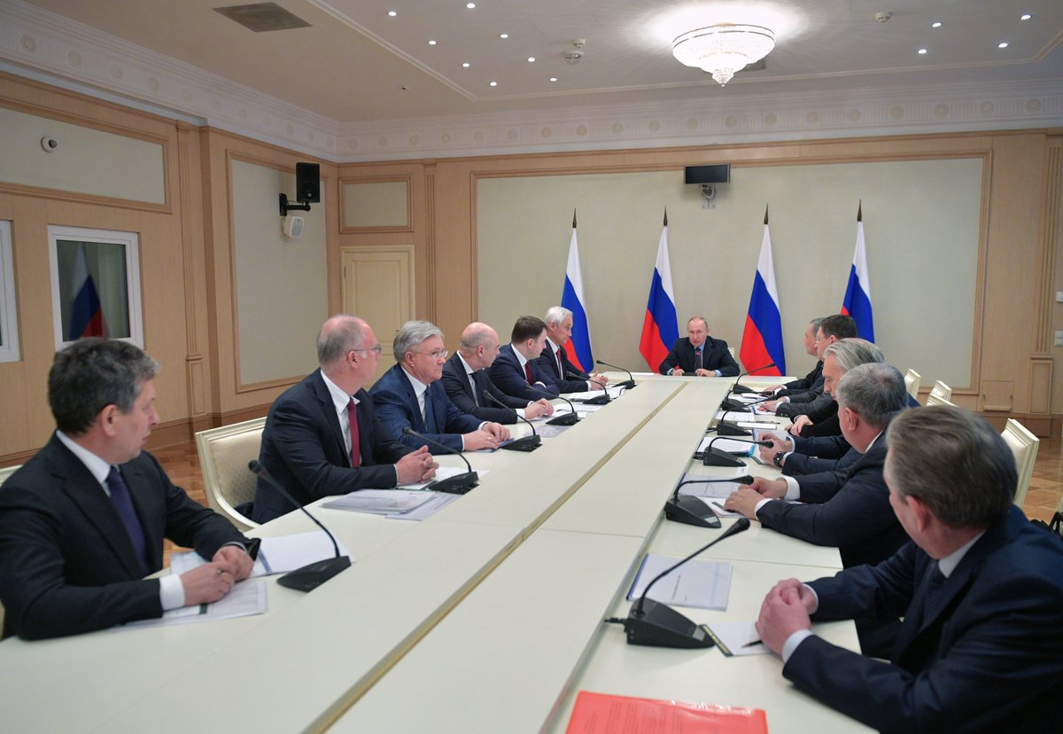 President Of Russia On Twitter Vladimir Putin Has Chaired A Meeting On Current International Issues Key Topics The Spread Of Coronavirus World Economic Developments Https T Co 1iec71z5tj Https T Co 0ozslnmqr9