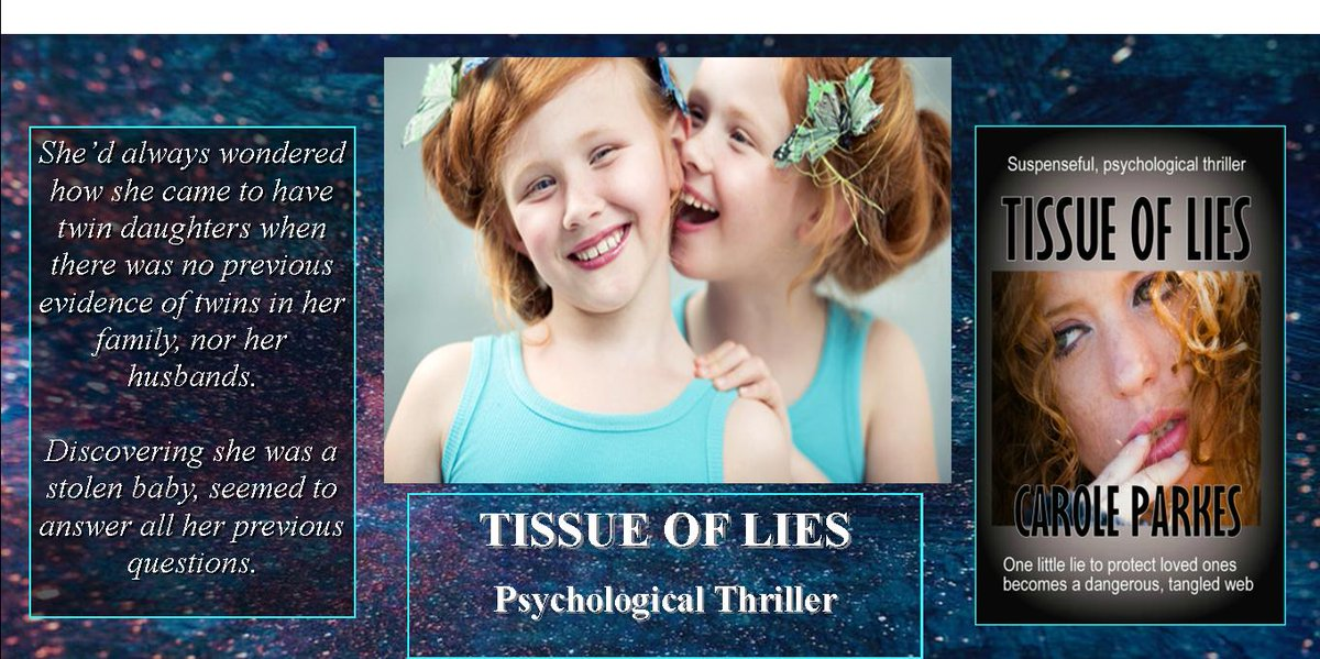"""<br>http://pic.twitter.com/bQTedHhg1U A 5***** review  """"Tissue of Lies by Carole Parkes, is a tale that is a unique combination of domestic family life and a disturbing and engaging thriller.""""   http:// myBook.to/TOL     #PsychologicalThriller #MysteryDrama #suspense #Kindleunlimited #GreatReads"""