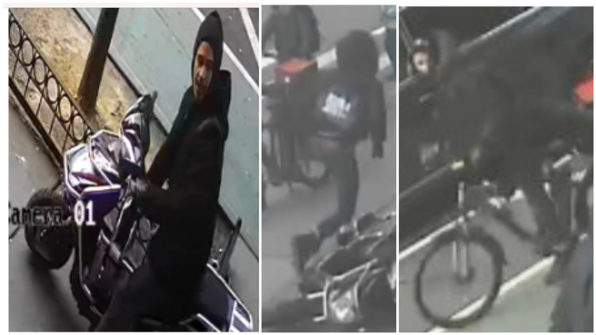 🚨#WANTED for ROBBERY On 2/28 at approx. 1PM the pictured suspects did pull up to victim as he attempted to lock his bike up on East 84th St. & 2nd Ave. Suspects punched victim & fled, one on victim's bike & one on a scooter.  Any info please ☎️ 1-800-577-TIPS or DM @NYPDTips. https://t.co/SFo9MjZNMx