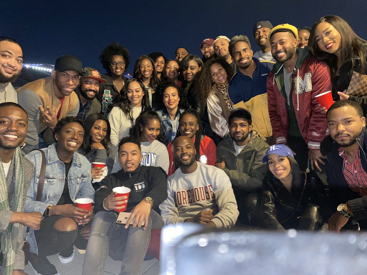 Home in ATL with the crew. #HBCUNight at @ATLHawks game. ✊🏾