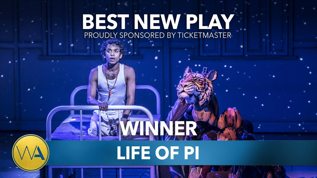 The WhatsOnStage Award for Best New Play goes to Life of Pi #WOSAwards