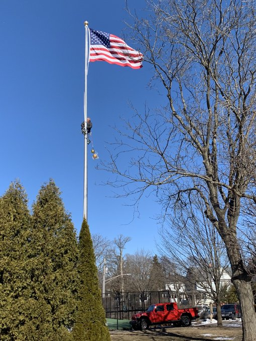 #Flags #Flagpole repair go hand in hand. Stay ahead of needing to go up top. #HardwareRigging #FlagpoleManagement https://t.co/JEyWF22nPE