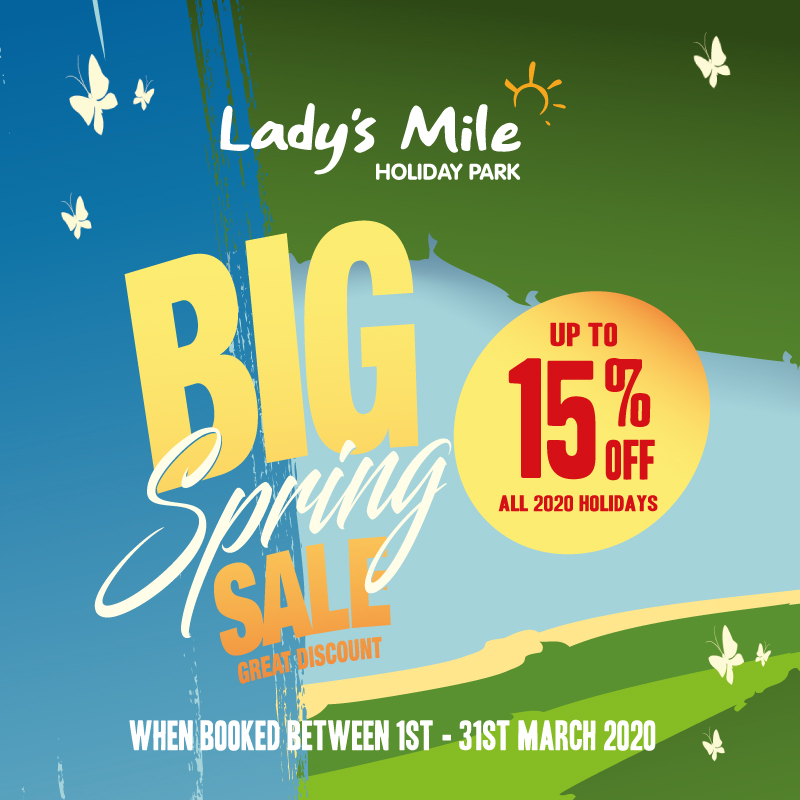 DONT MISS OUR BIG SPRING SALE 🌷🌷 Save 15% off ALL 2020 Holidays Book to stay between the 1st - 31st March and save 15% off ALL 2020 Holidays >> bit.ly/Big-Spring-Spe… Online only offer. Not to be used in conjunction with any other offer. Subject to availability.