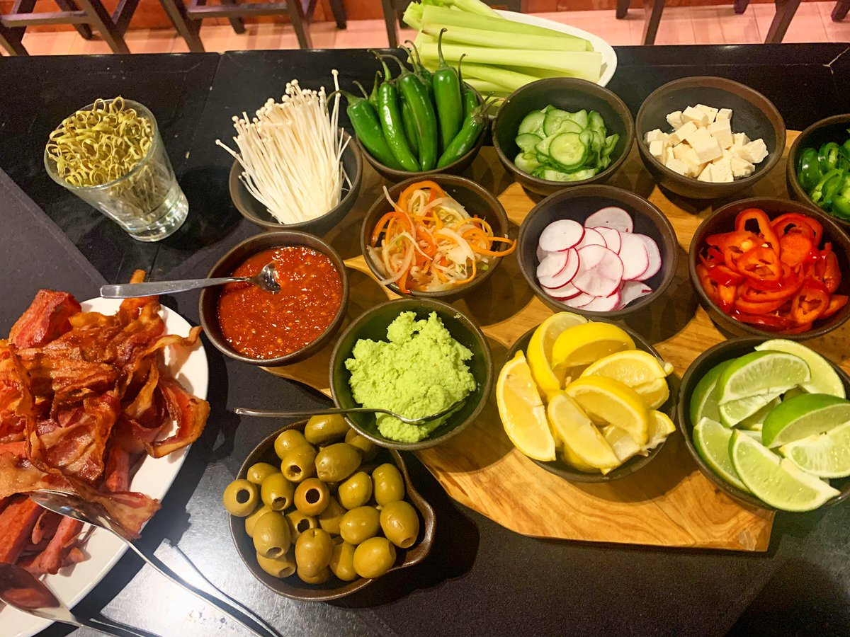 Our Bloody Mary bar is ready to go! Choose from our variety of condiments from the far east and west and make it your own. Only available at our weekend brunch! #Sunda #weekendbrunch #sundayfunday #bloodymary #bloodymarybar #eastmeetswest<br>http://pic.twitter.com/vRLRG71nCw
