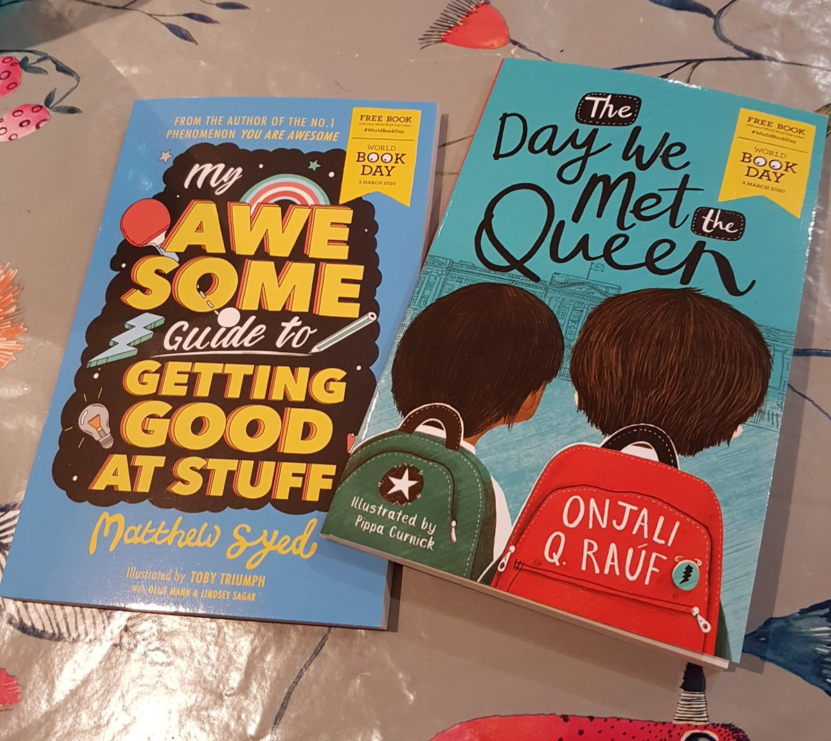 Latest additions to my children's books collection for @WorldBookDayUK