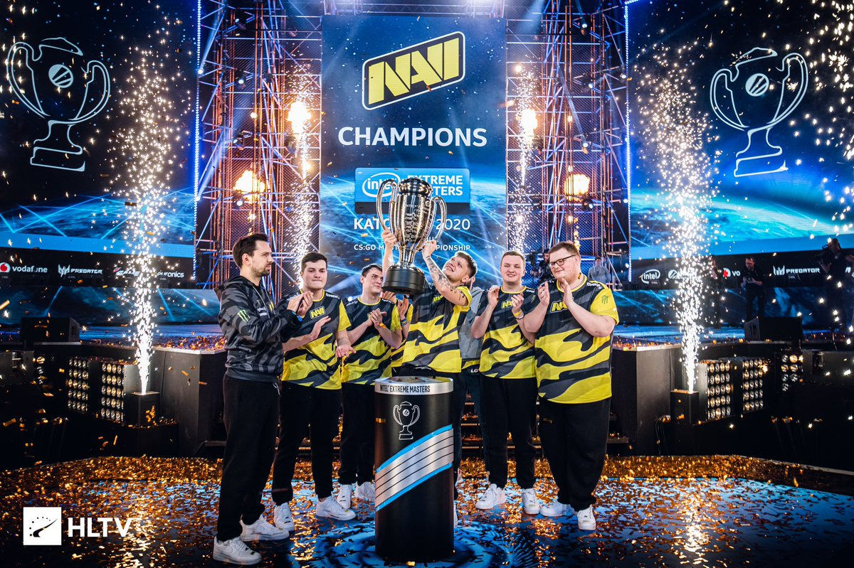 Victory!  IEM Katowice 2020 Champions!  I am proud of the team. Thank you all for your support!💛🖤 #navi2020 #electroniccsgo https://t.co/oCbU32c6NI