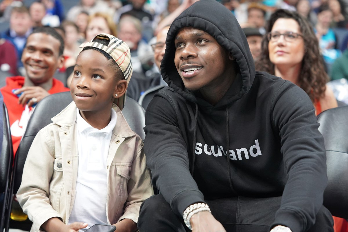 Our guy @DaBabyDaBaby and his son are in the house! 😀 #AllFly