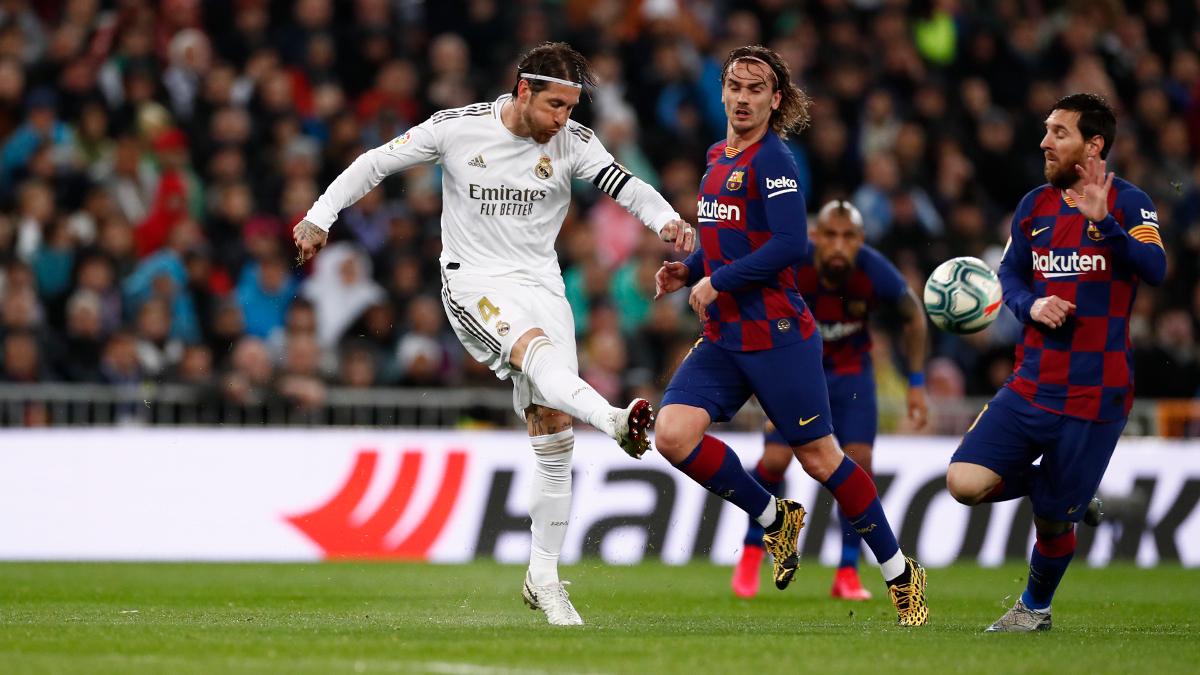 Реал Мадрид - Барселона, Серхио Рамос, Лионель Месси и Антуан Гризманн