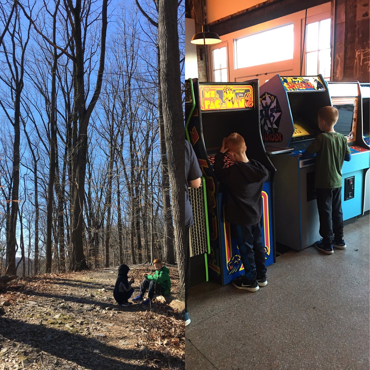 A well rounded #SundayFunday -hike at @CromwellValleyP and retro video games at North Avenue Market