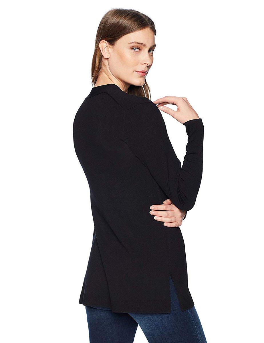 Lark /& Ro Lightweight Long Sleeve Mid-Length Cardigan Donna